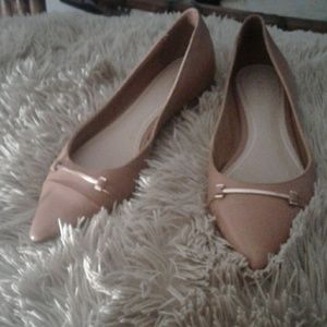 Aldo Pointed Tan Leather Flats  7